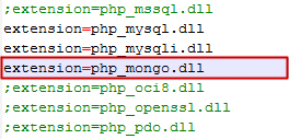 php_mongo.dll on php.ini